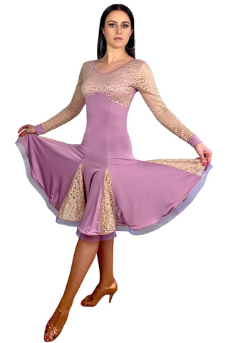 """Fabiana Blush"" Latin Dance Dress"