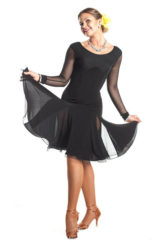 """Simply Gorgeous"" Latin Dance Dress - DanceLuxe Boutique"