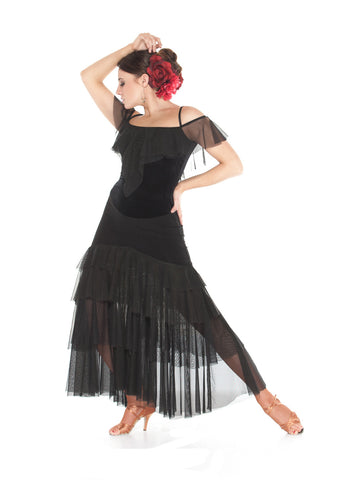 """Lady Carmen"" Ballroom Dance Dress"
