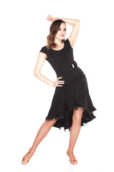 """La Dolce Black"" Latin Ballroom Dance Dress"