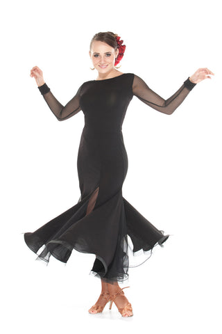 """Charmed"" Ballroom Dance Dress - DanceLuxe Boutique"