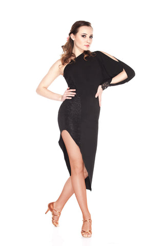 """One Shoulder Love"" Latin Dance Dress"