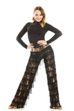 Leopard Dance Fringe Pants - DanceLuxe Boutique