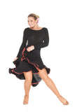 """Novella Red"" Latin Dance Dress - DanceLuxe Boutique"