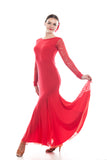 """Grace Red Lace"" Ballroom Dress"