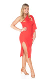 """Fabulous in Red"" Latin Dance Dress"