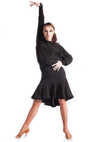"""Dolce"" Black Dance Top - DanceLuxe Boutique"