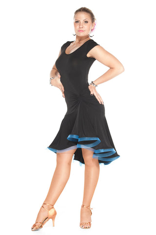 """Dancing Queen"" Latin Dance Dress - DanceLuxe Boutique"