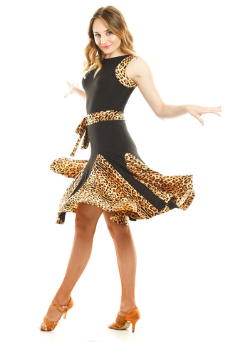 """Wild at Heart"" Latin Dance Dress - DanceLuxe Boutique"