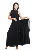 """Long Wrap"" Black Dance Skirt - DanceLuxe Boutique"