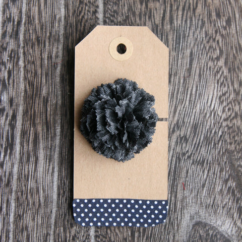 Grey Texture Boutonniere