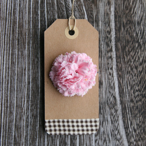 Pink Oxford Boutonniere