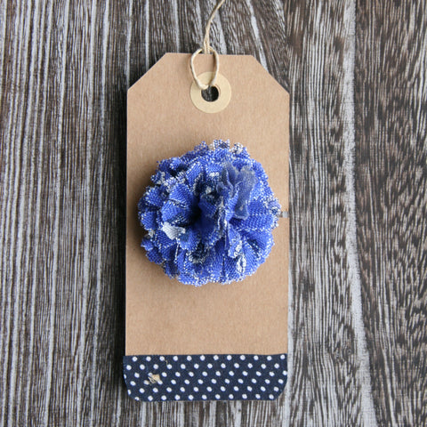 Blue Oxford Boutonniere
