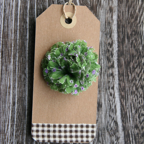 Green Oxford Petite Floral Boutonniere