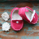 The Audrey Moccasin in Pink