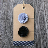 Tiny Gents Blue and Black Boutonniere - 2pcs