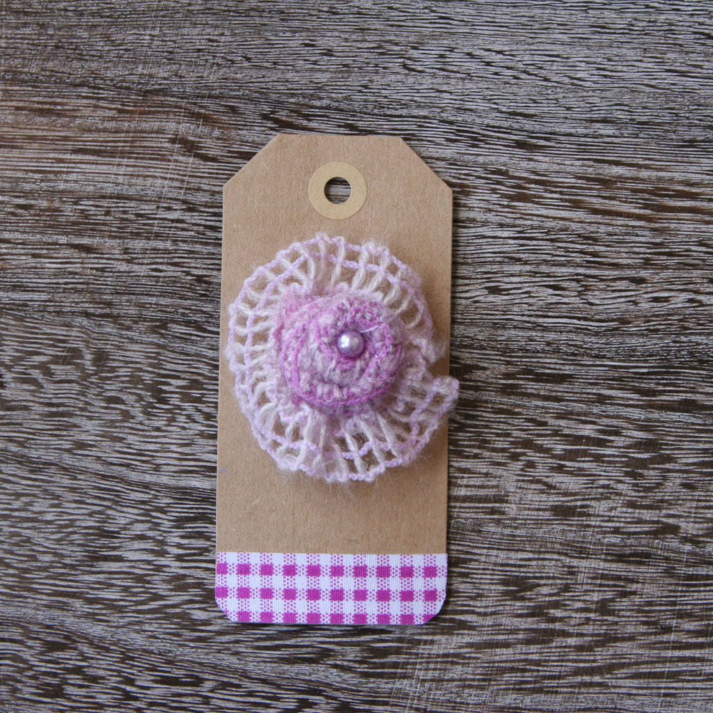 Yarn Rosette in Purple