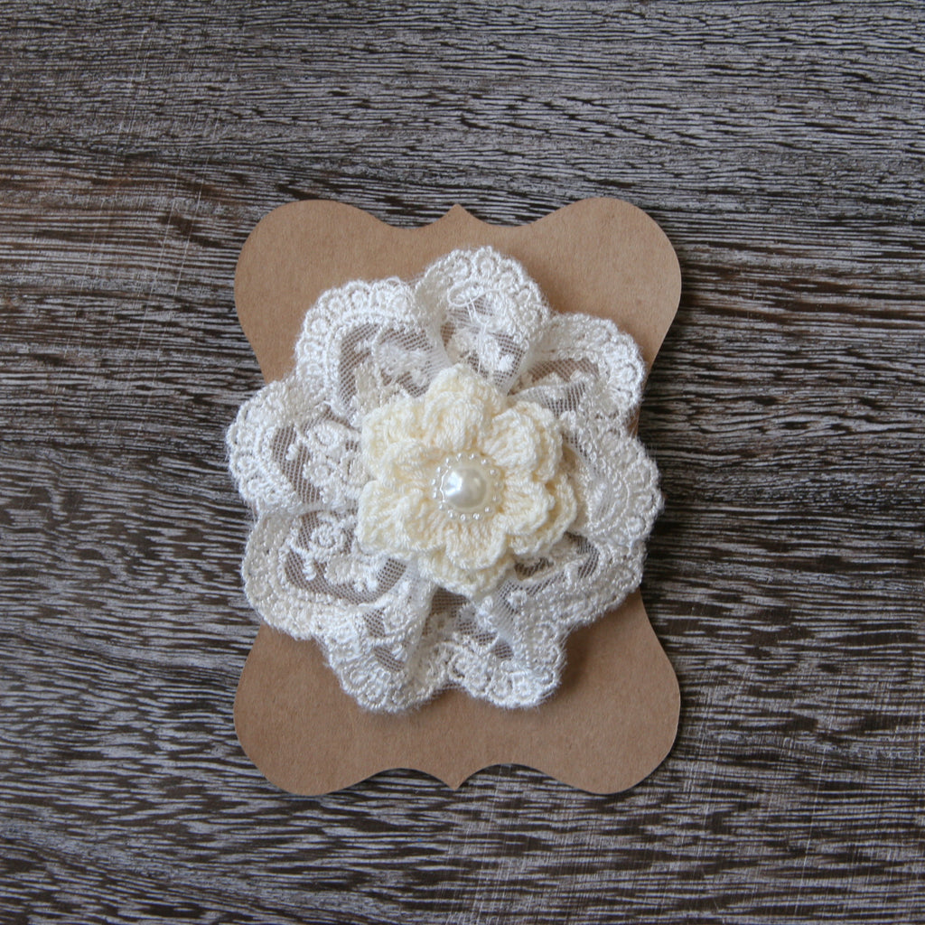 Mixed Media Lace Flower