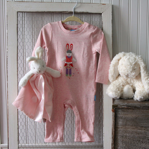 Anabelle Pink Bunny Romper by Albetta