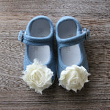 Mary Jane Flat in Chambray - Infant Size