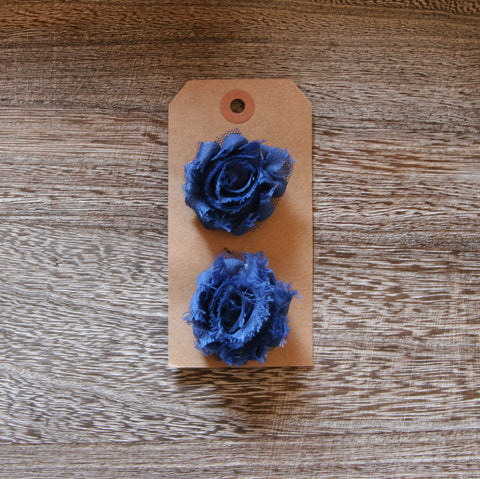 Mini Shabby Rose in Navy