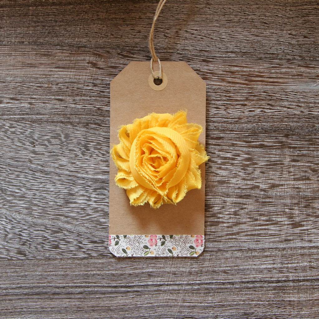 Shabby Rose in Dk Yellow