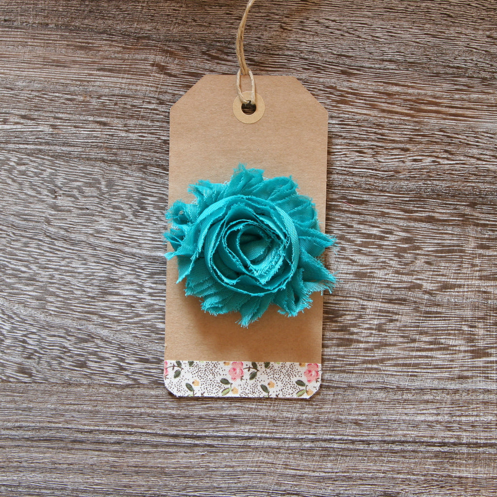 Shabby Rose in Teal