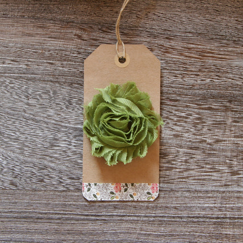 Shabby Rose in Avacado Green