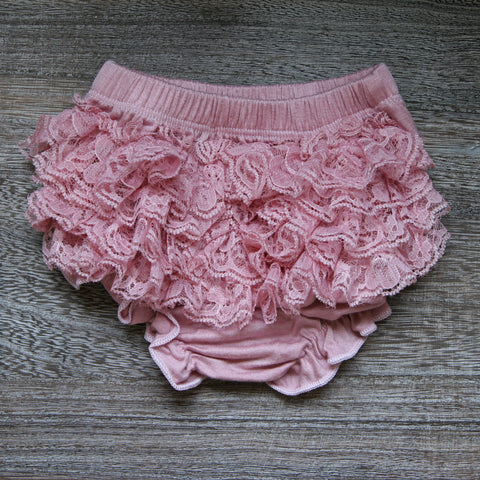Lace Bloomer in Vintage Pink