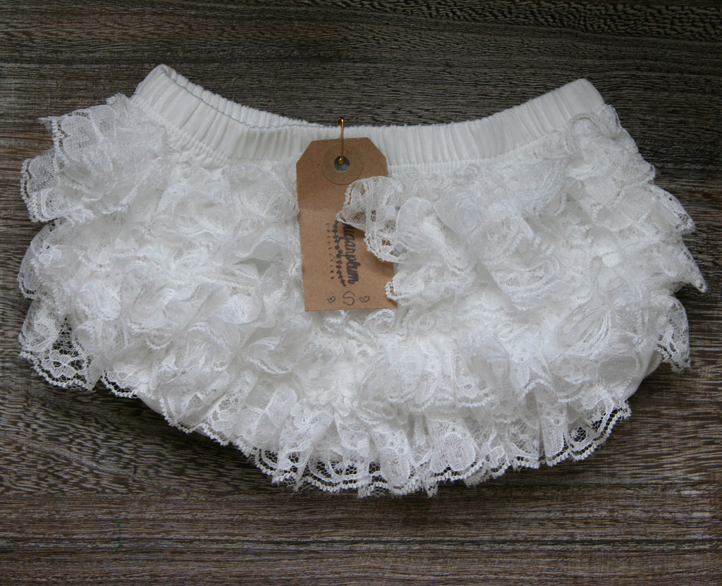 Lace Bloomer in Soft White