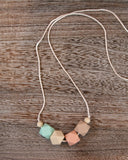 Silicone Teething Necklace in Sea Glass