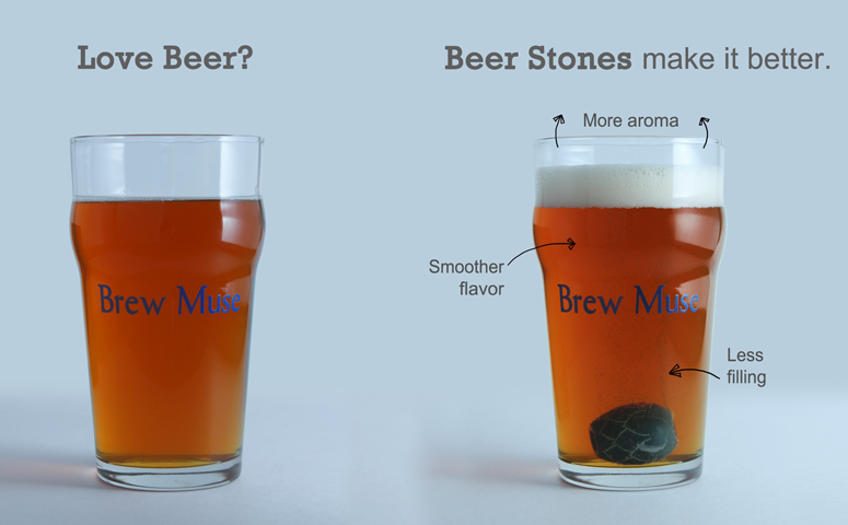 Beer head more aroma, smoother flavor, less filling infographic