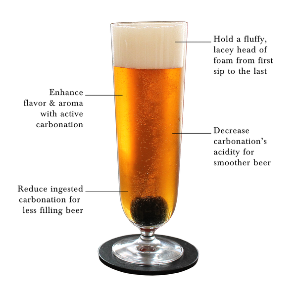 Beer Stone in a Pilsner Glass Diagram