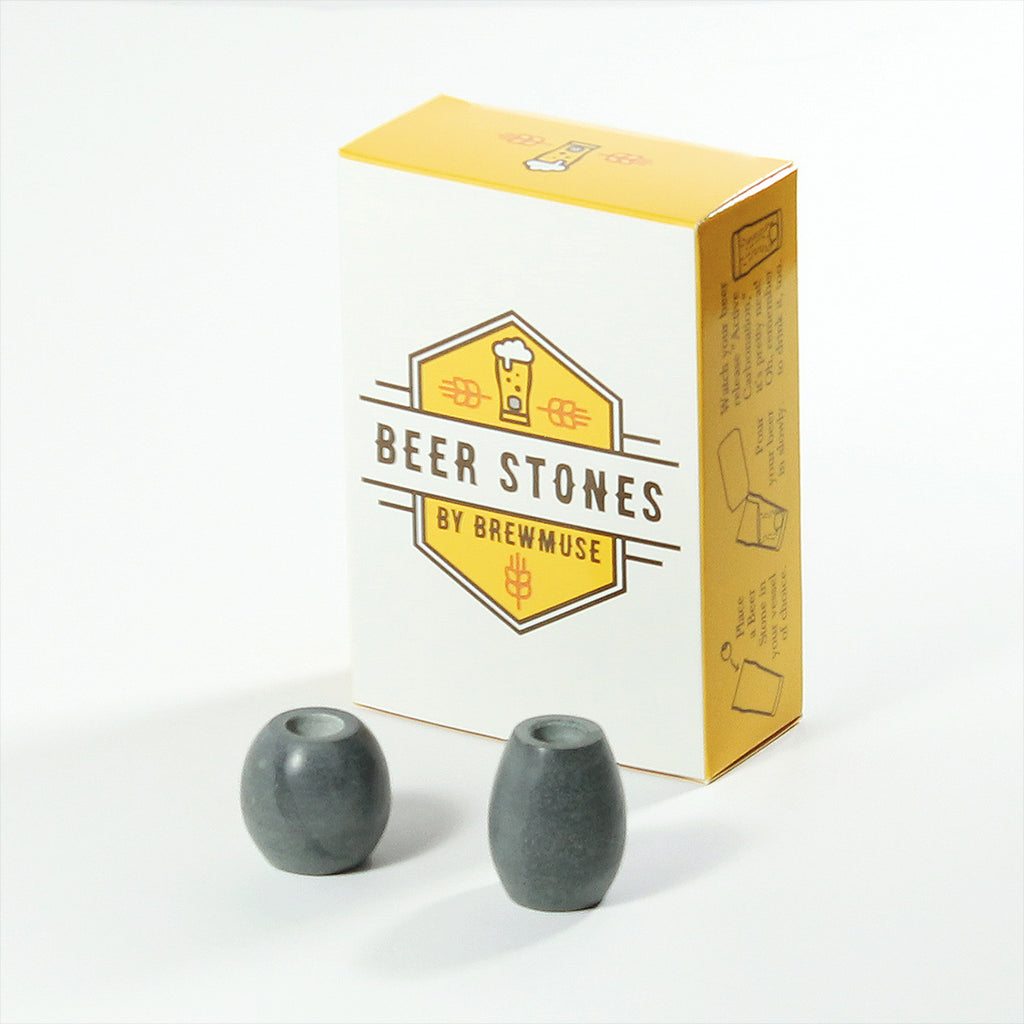 Beer Stones Set - 1 Hop 1 Olive - Mustache - Elevate Your Beer!