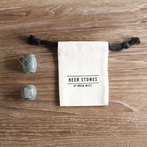 Beer Stones Set - 1 Hop 1 Olive - Pick any State - Perfect Your Pint!