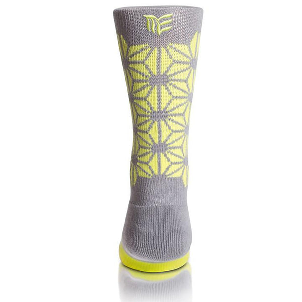 Modern Envy Apparel good fortune crew sock Grey with Anti-Freeze logo view