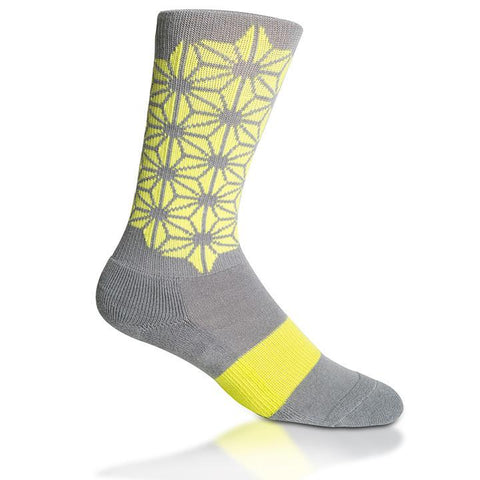 Modern Envy Apparel good fortune crew sock Grey with Anti-Freeze side view