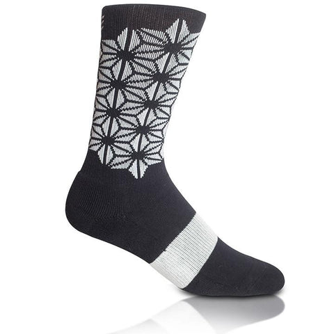 Modern Envy Apparel good fortune crew sock Black with Silver side view