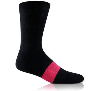 Modern Envy Apparel Black and Fuchsia sock side view