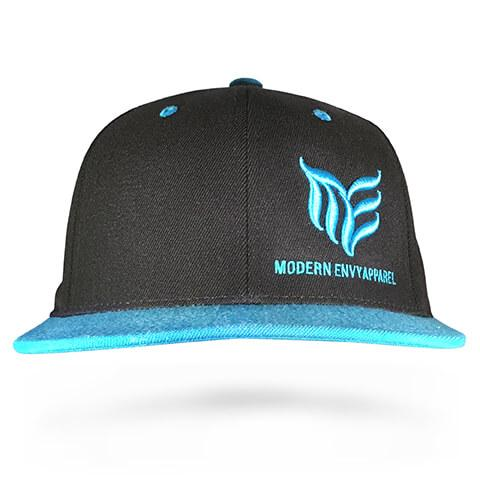 Black with Teal MEA logo Classic snapback - Modern Envy Apparel