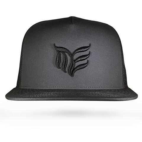 Black with Charcoal MEA logo Classic Trucker snapback