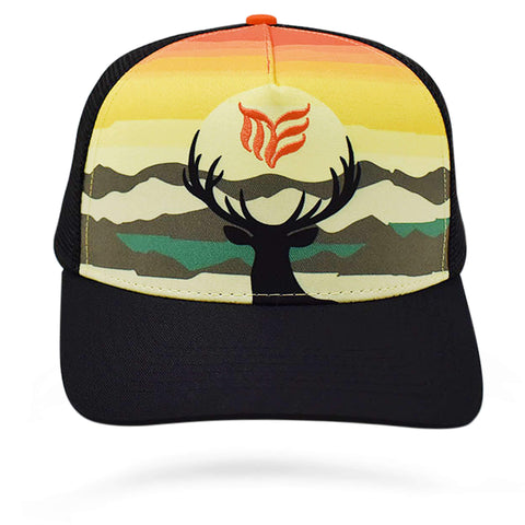 """Deer Caught in the Light"" Camo Mesh Snapback - Modern Envy Apparel"