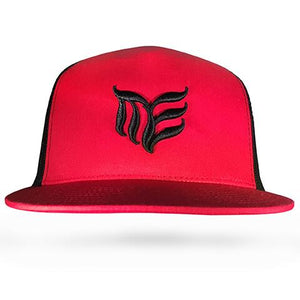 Black with Red MEA logo Classic Trucker snapback - Modern Envy Apparel