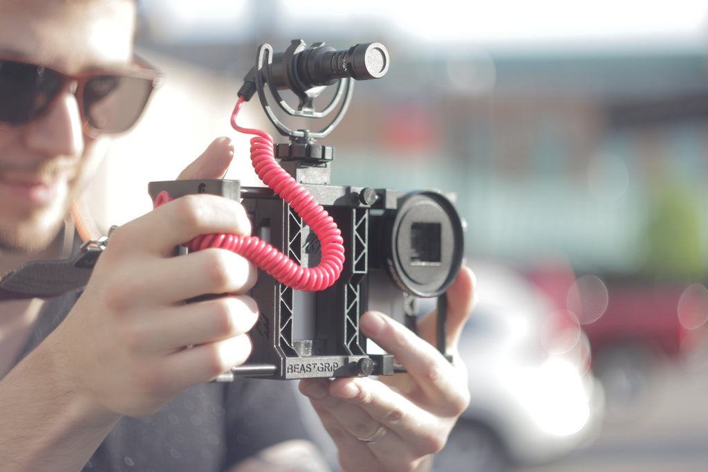 Beastgrip Pro with RODE microphone for smartphone filmmaking