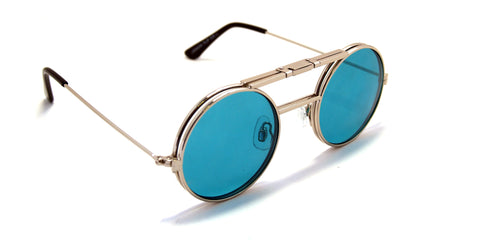 Lennon Flip Up Silver / Turquoise