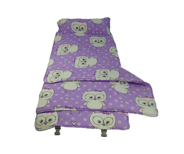 Elektra Regular Plus Cloud9 Nap Mat for Child Care Travel & Sleepovers - Purple Owl - Elektra Bub Tots & Kids Shop