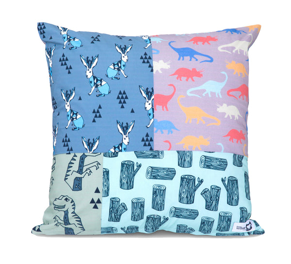 DINOSAUR STOMP SQUARE CUSHION