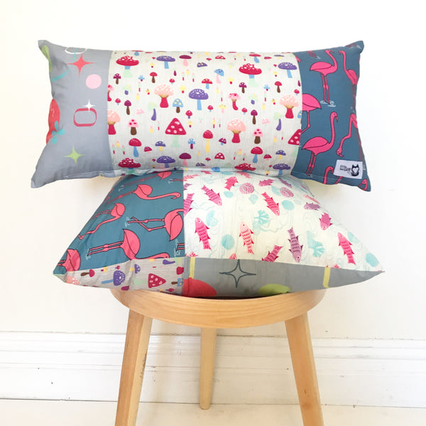 SEA OF MUSHROOM LONG CUSHION