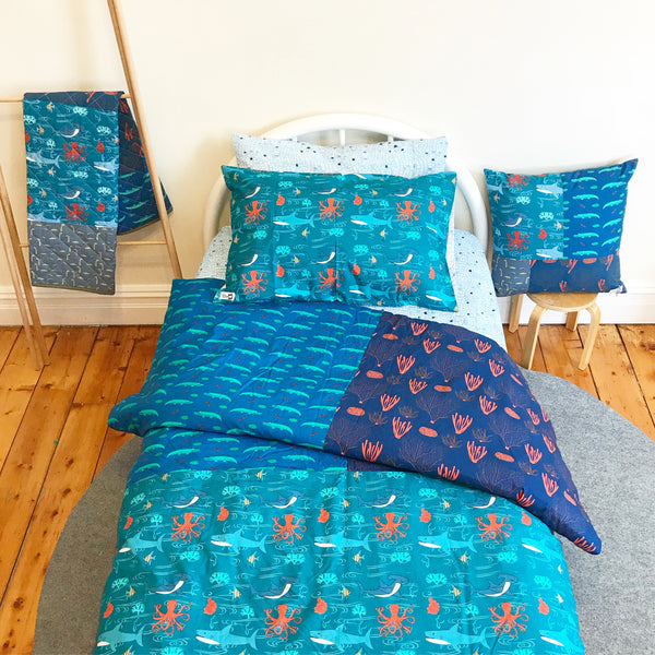 Under the sea quilt cover