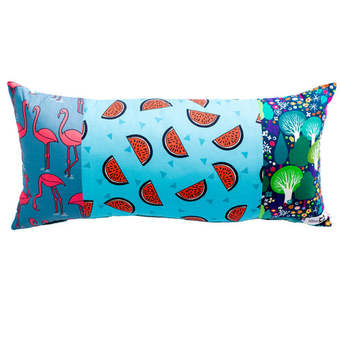 FLAMINGO IN THE FOREST LONG CUSHION